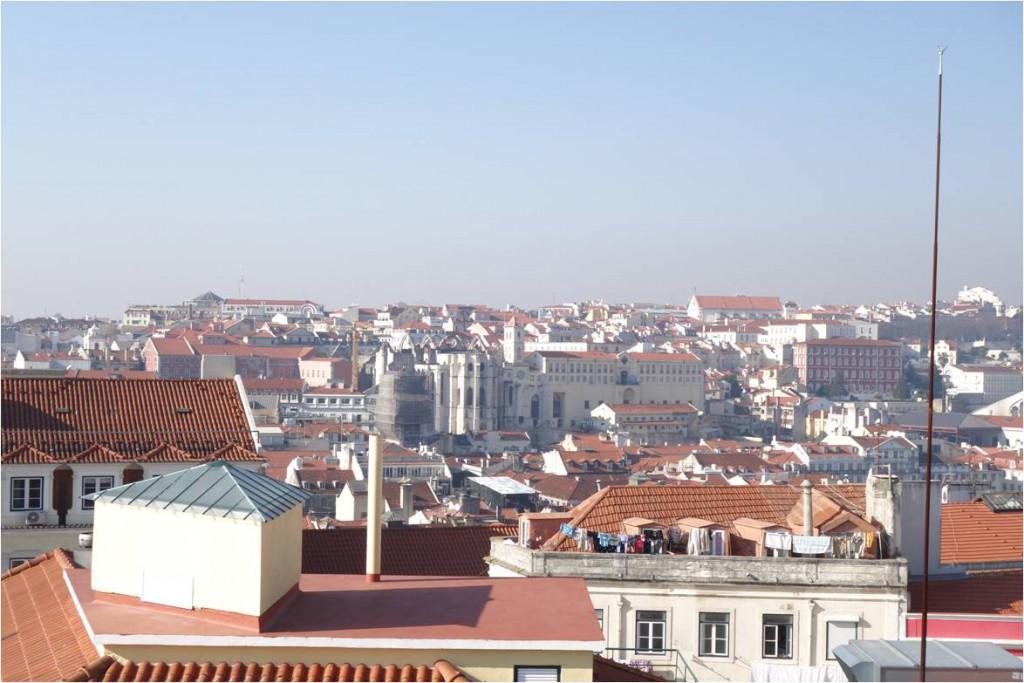 Aussicht vom Elevador Castelo auf Lissabon