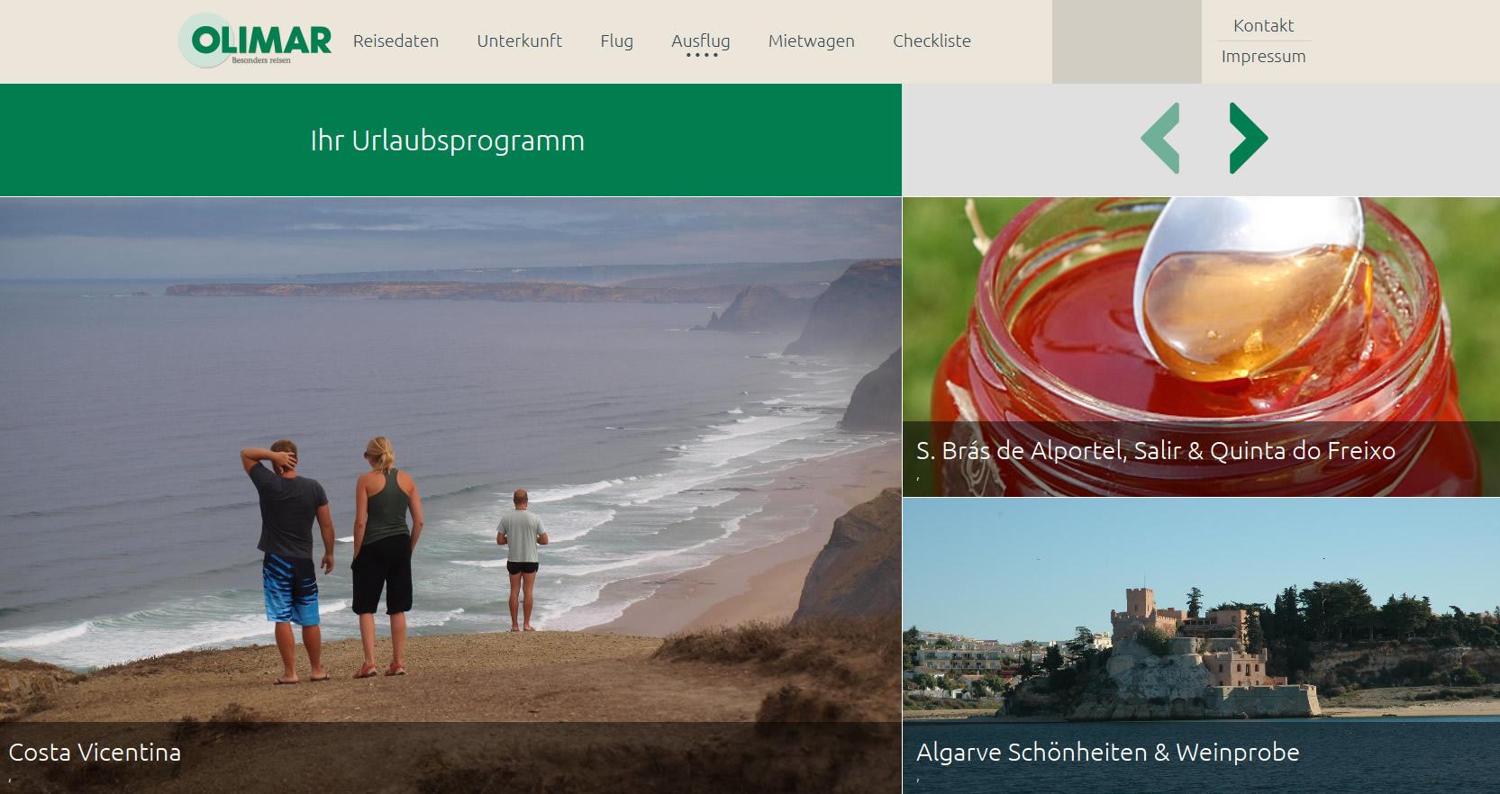 Website von Olimar