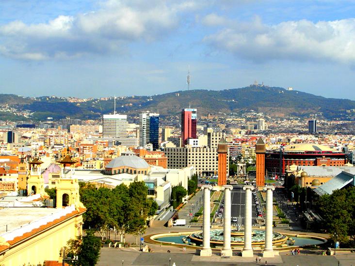 Barca Montjuic Barcelona Urlaub