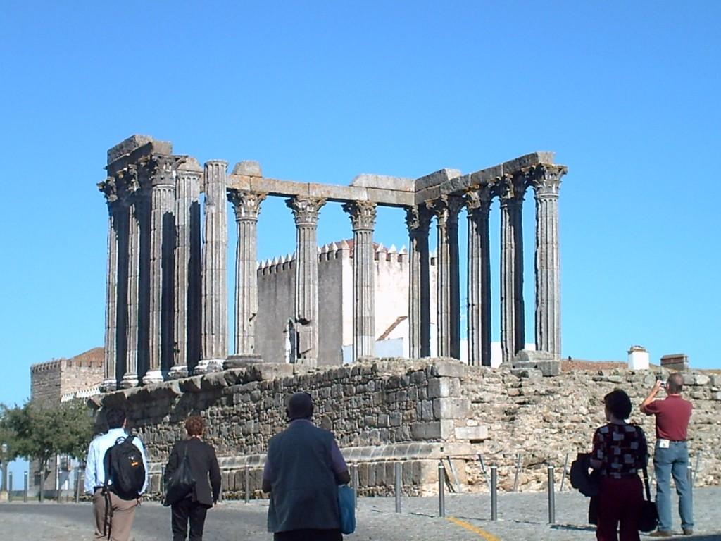 Diana Tempel in Évora im Alentejo