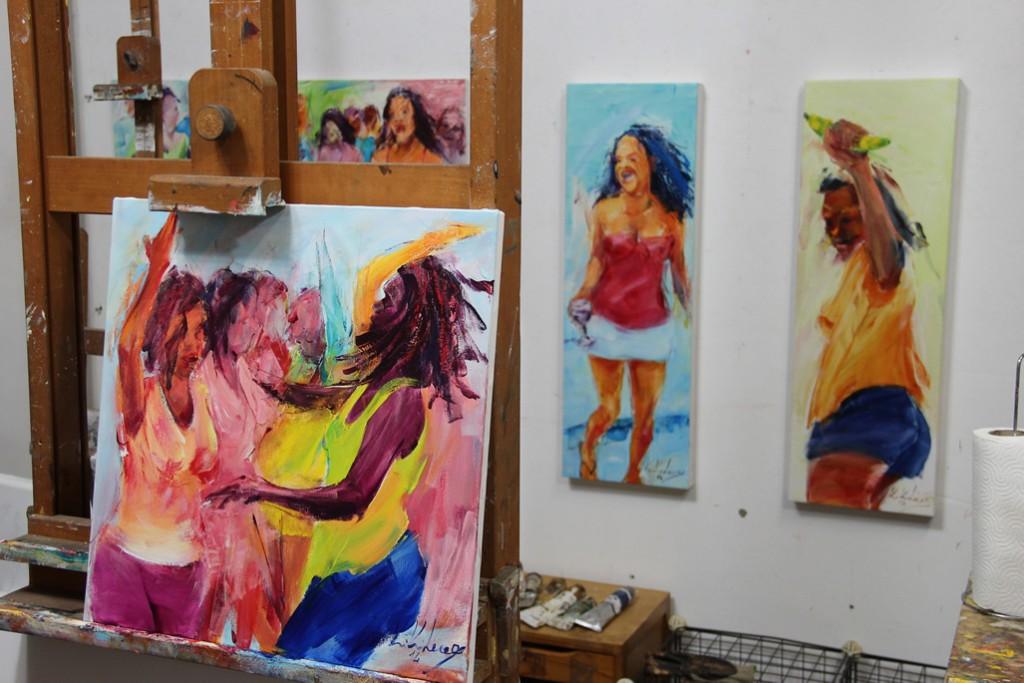 Atelier des Künstlers Kiki Lama in Mindelo, Kapverden