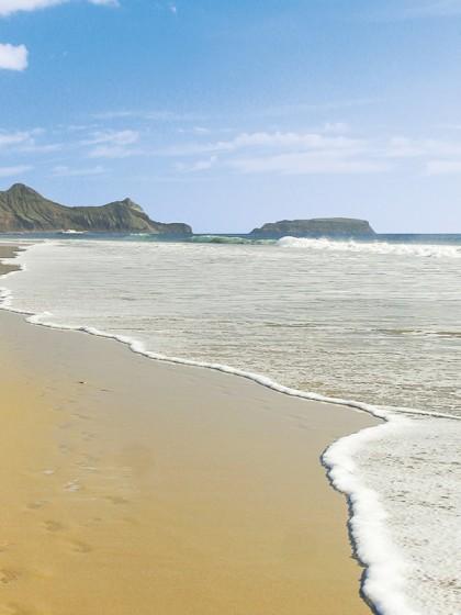 9 km langer Sandstrand von Porto Santo, Madeiras Nachbarinsel