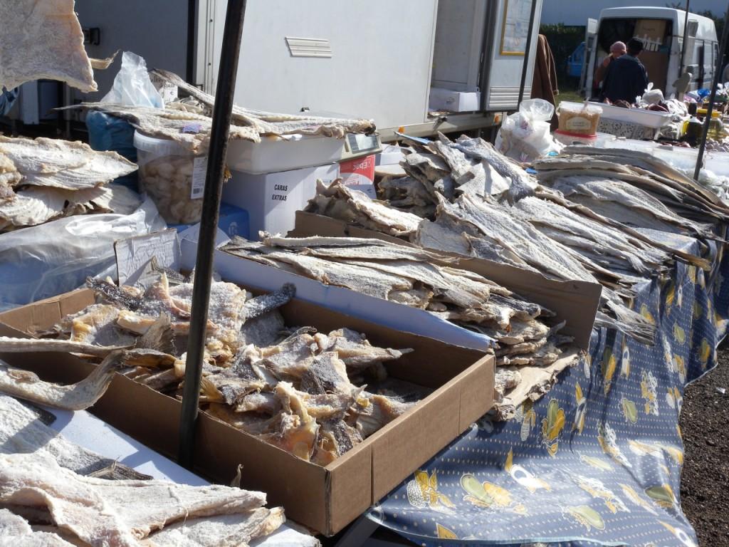 Wochenmarkt mit Bacalhau