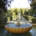 Brunnen in den Generalife-Gärten der Alhambra