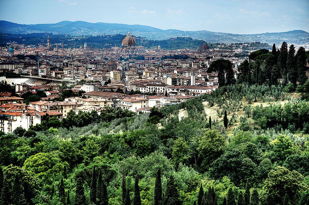 Herrlicher Panoramablick vom Hotel Il Salviatino auf Florenz