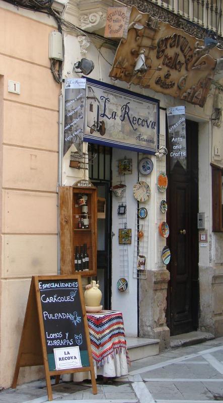 Geschaeft in der Altstadt von Málaga