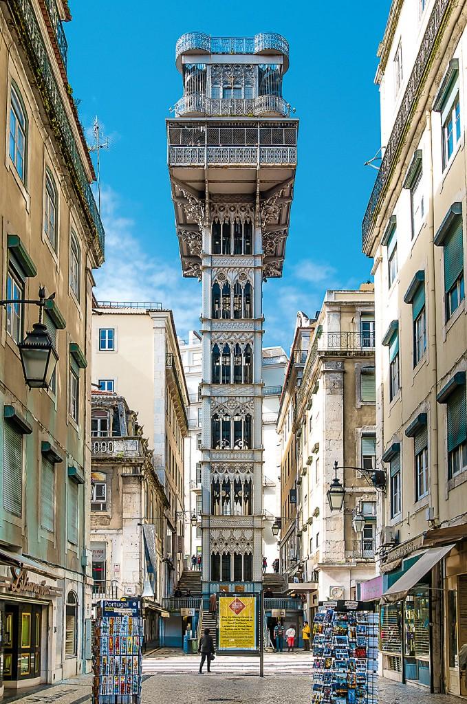 Der Elevador Santa Justa in Lissabon, © JosephHilfiger-Fotolia