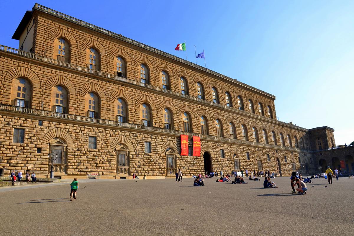 Palazzo Pitti im Florenzer Stadtteil Oltrarno