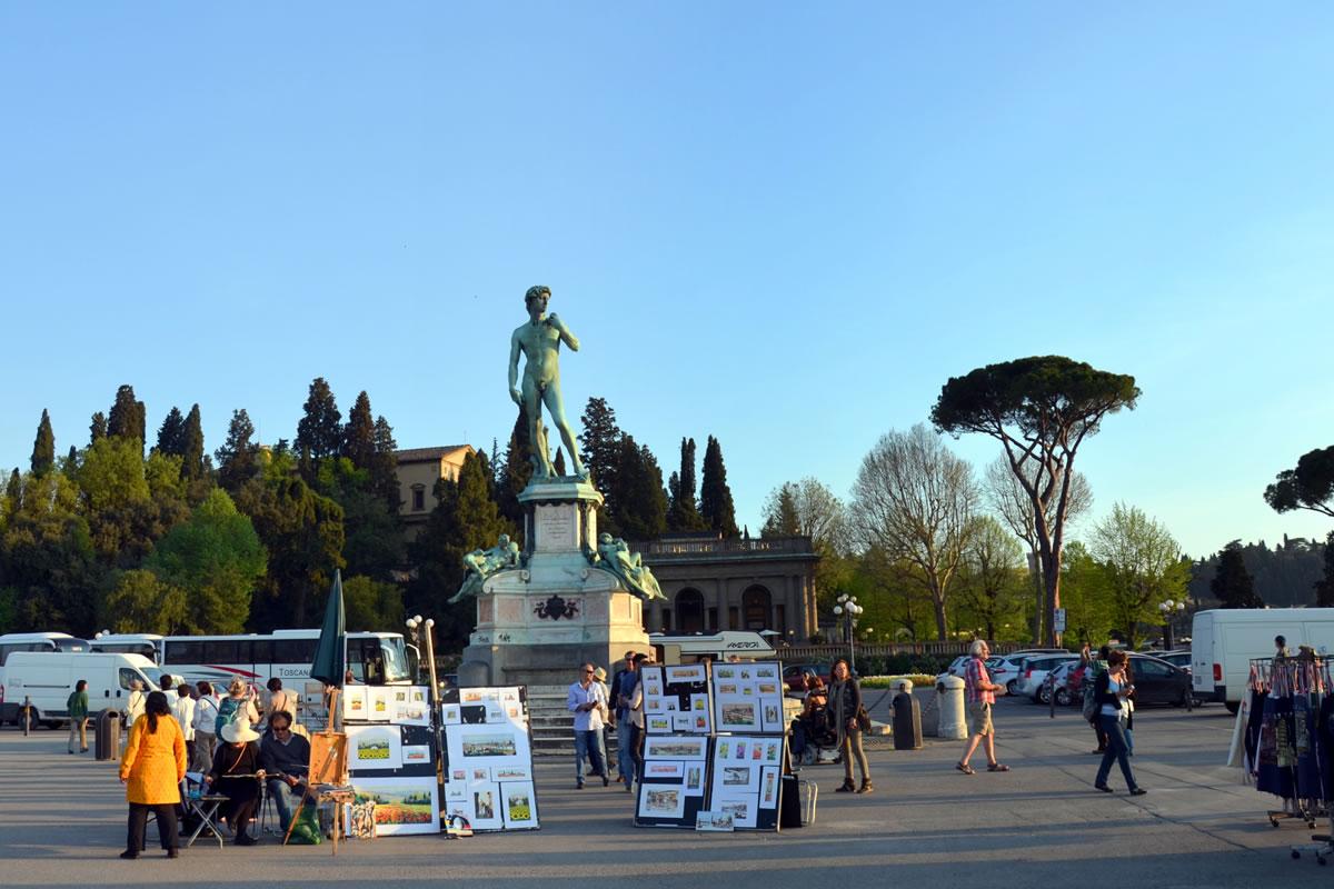 Michelangelo auf der gleichnamigen Piazzale