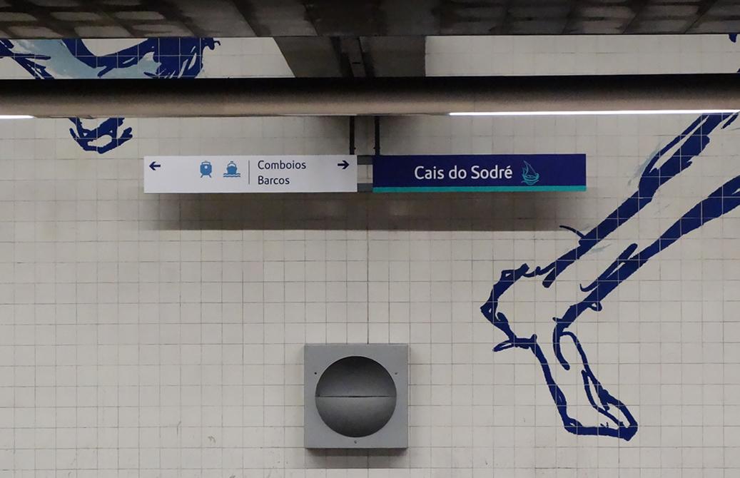 Cais do Sodré U-Bahn Lissabon