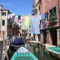 Venedig Urlaub : Kanal Gasse Wäsche