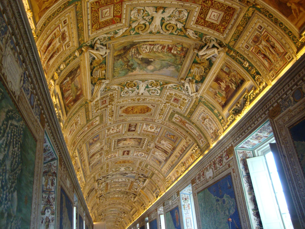 Goldene Decken Fresken in Rom