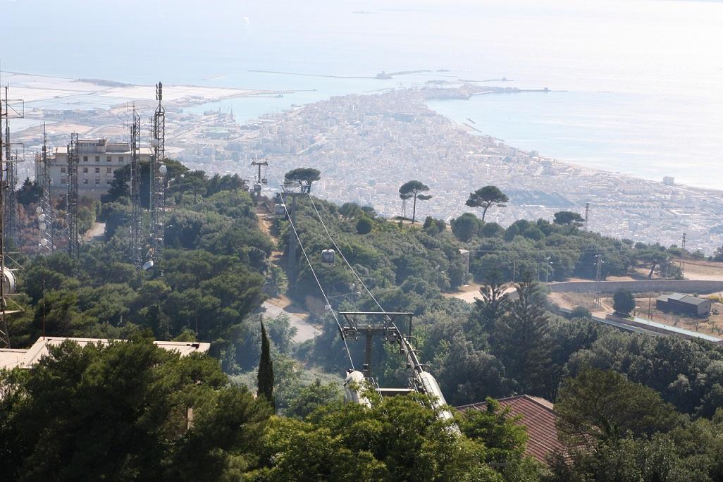 Seilbahn zwischen Trapani und Erice, Sizilien