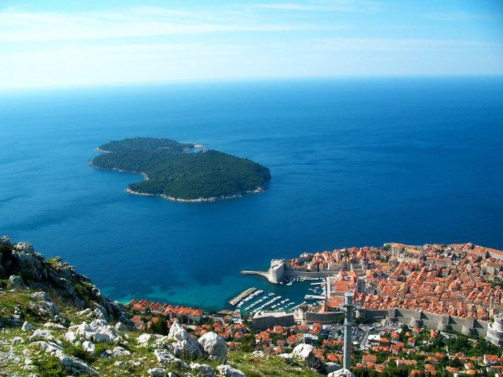 Blick auf Dubrovnik, Kroatien