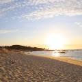 Sonnenuntergang am Strand in Galicien