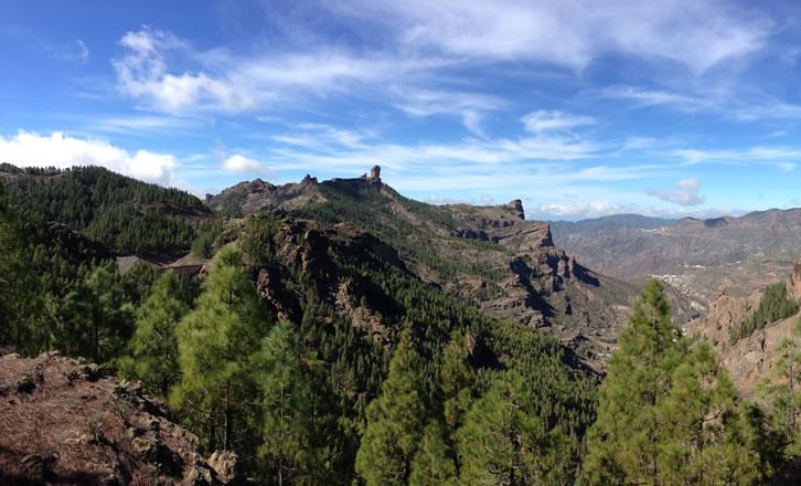 Aussicht vom Roque Nublo ins Tal