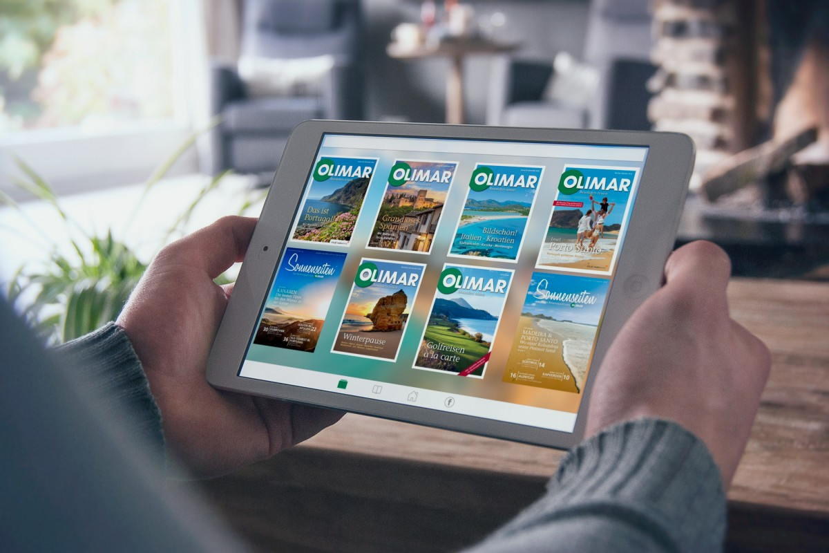 OLIMAR App auf dem Tablet