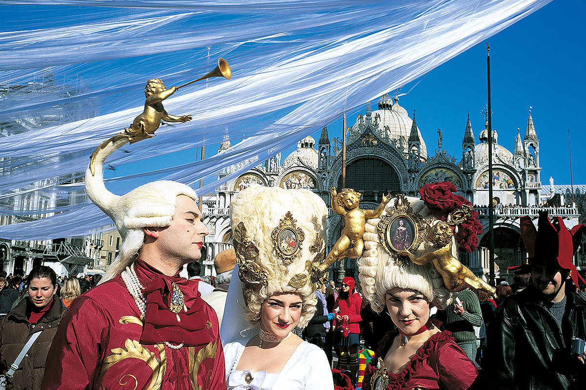 Karneval in Venedig, Kostümierte