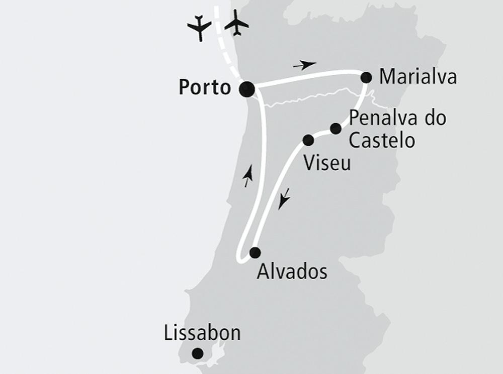 """Route der OLIMAR Rundreise """"Einmalige Erlebnisse im unbekannten Mittelportugal"""""""