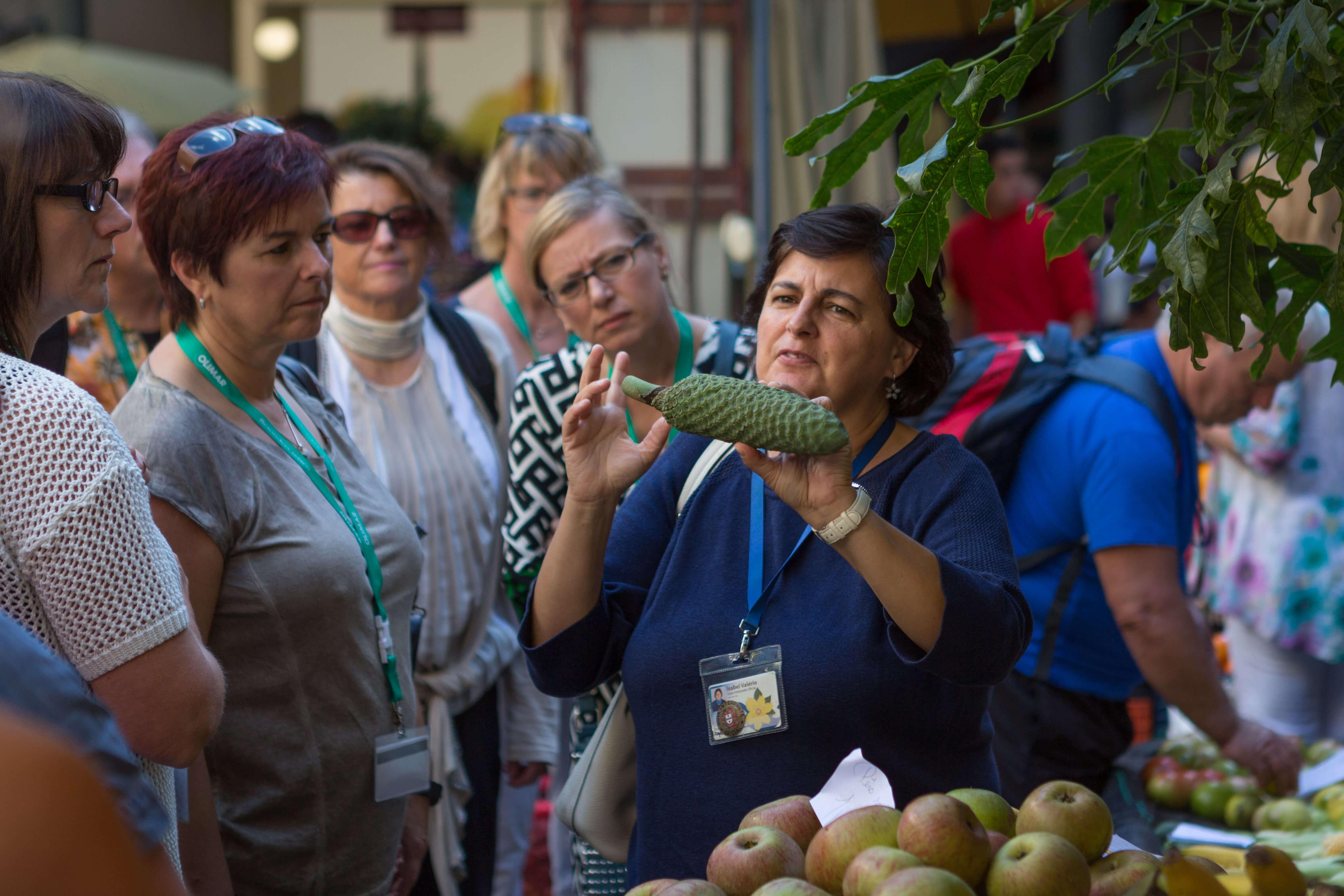 Markthalle von Funchal, Obst und Gemüse Händler