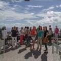 Empfang auf Terrasse über dem Meer Porto Santo