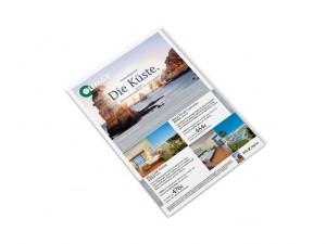 Angebotsflyer für die OLIMAR Reisebüro-Partner mit den neuen Kampagnenmotiven.