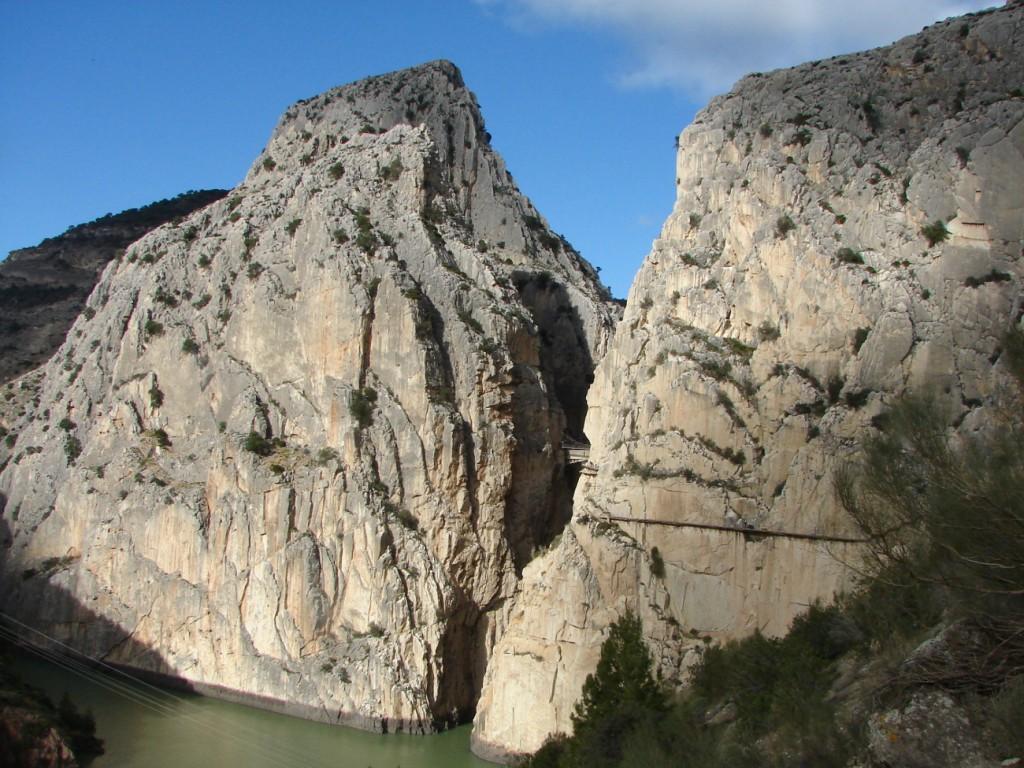 Ausblick auf den Caminito del Rey von El Chorro