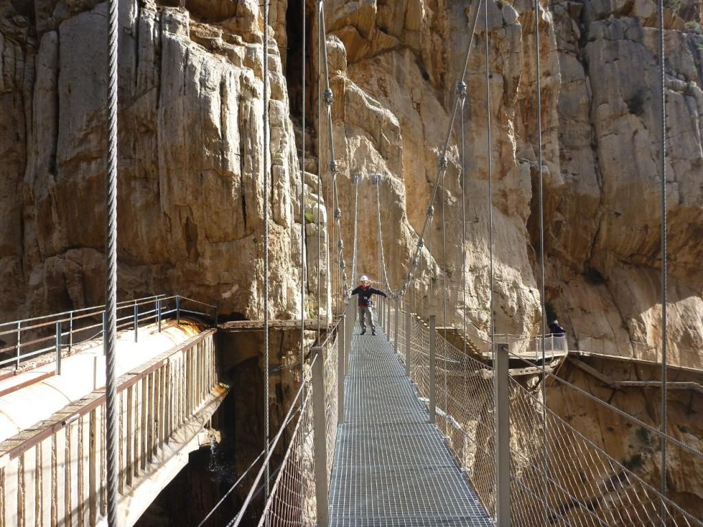 Die Hängebrücke - das spektakuläre Highlight des Caminito del Rey