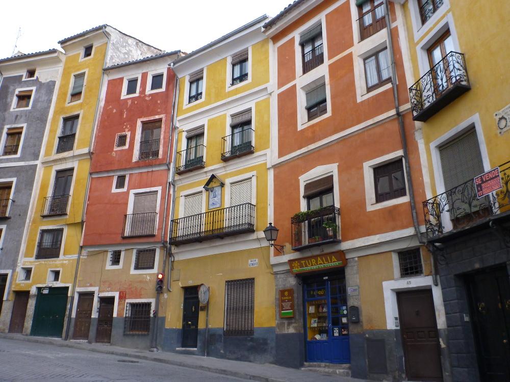 bunte alte Häuser Cuencas