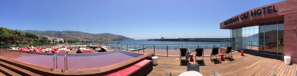 Terrasse des CR7 Hotel in Funchal
