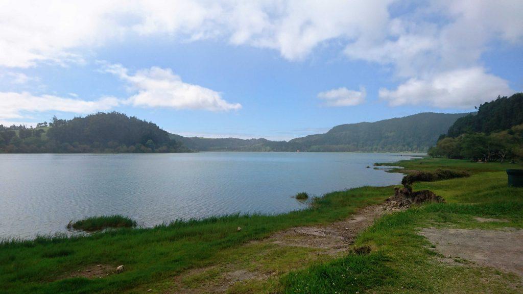 Lago-Furnas-Azoren-Ufer