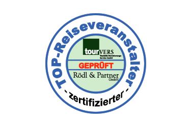 Tourvers Top Reiseveranstalter Zertiziert