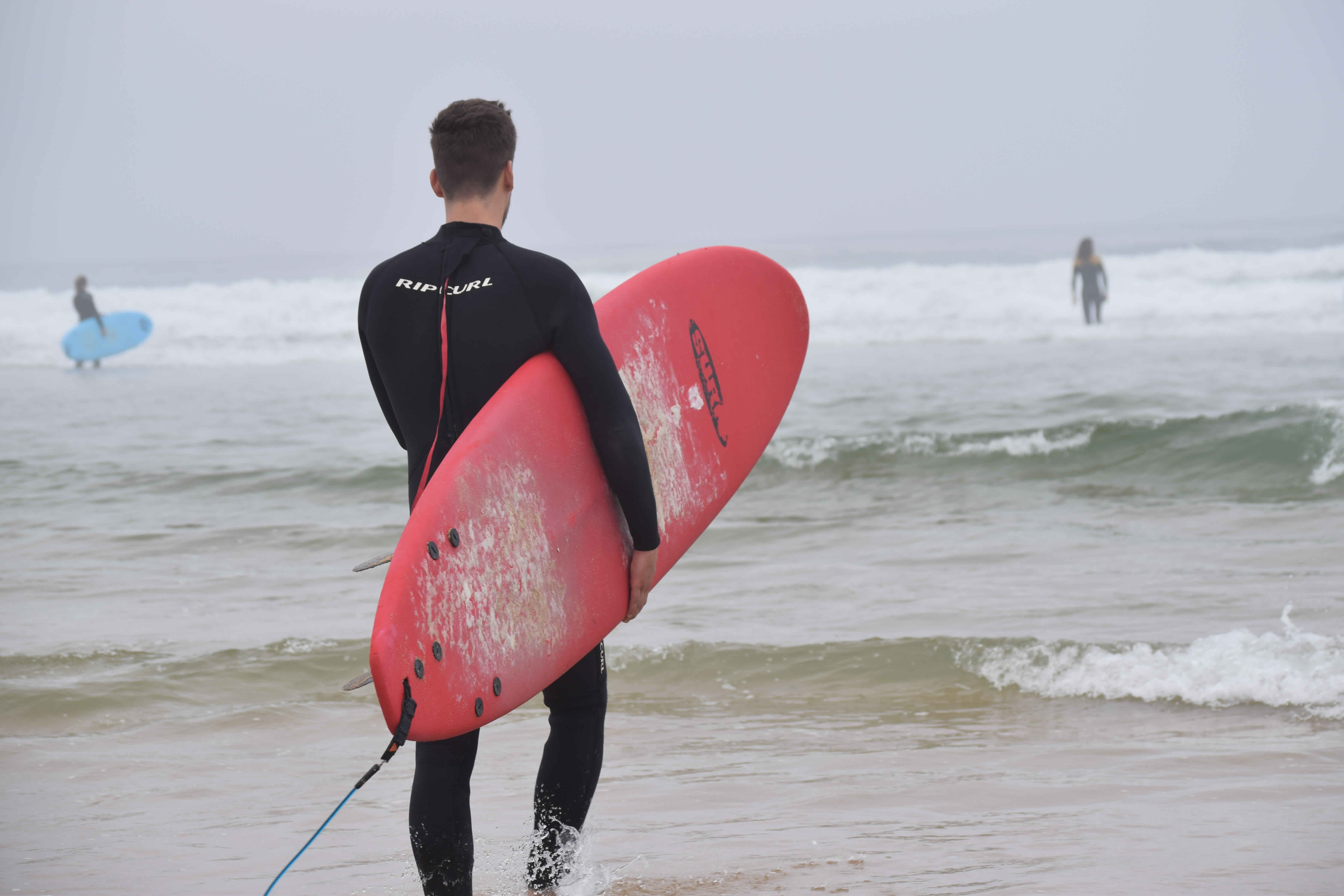 Surfer Surfen Lissabon Norden