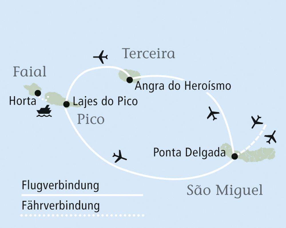 Rundreise Atlantikküste Plan
