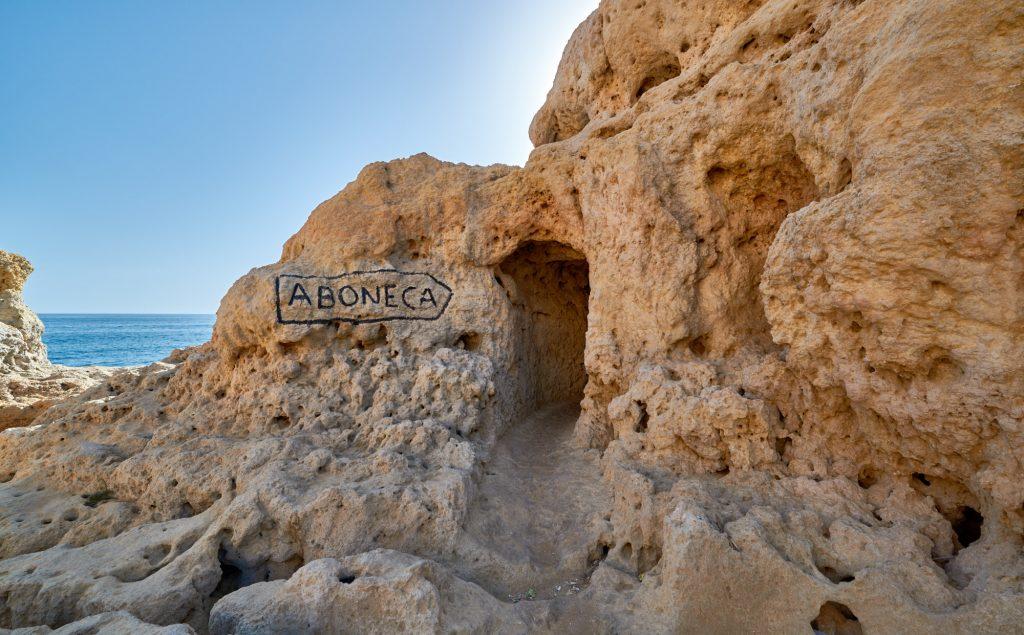 ABONECA Zeichen Felsenküste Algarve
