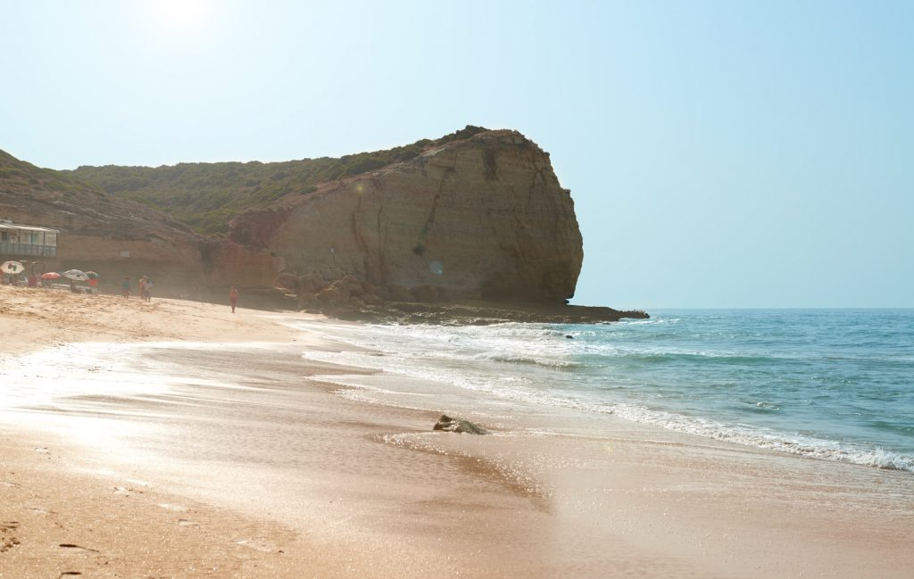 Strand an der Algarve in Portugal