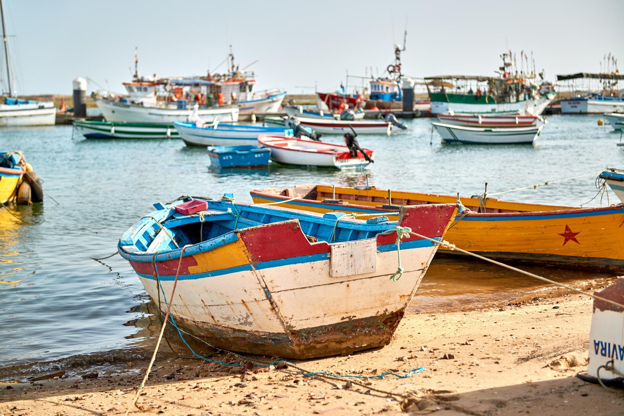 Fischerdorf Santa Luzia Boote Hafen