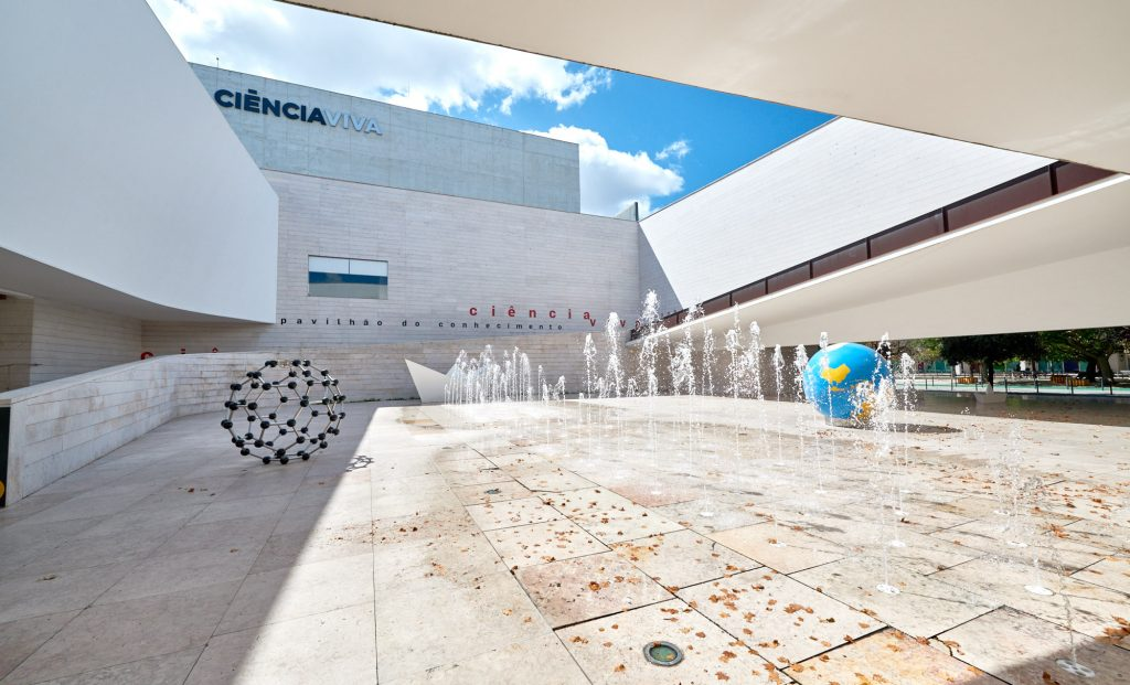 Das Expo-Gelände in Lissabon in Portugal