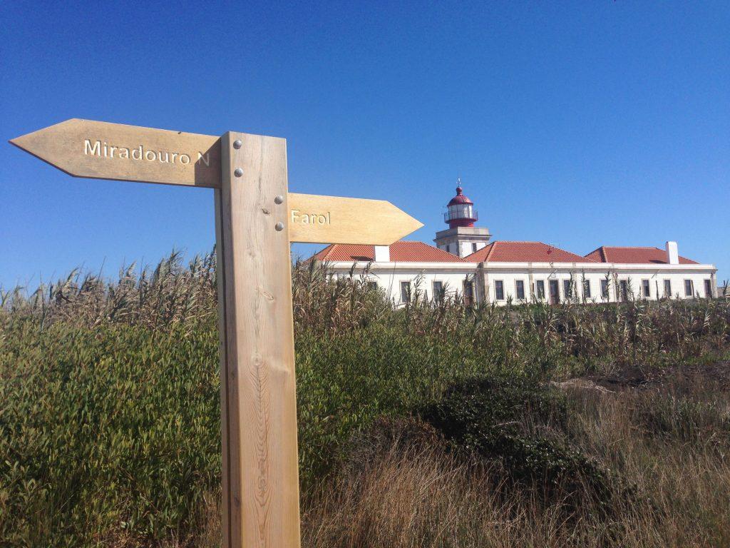 Wegweiser Leuchtturm Cabo Sardao Rota Vicentina