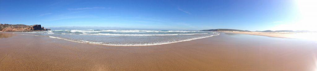 Panorama Praia Bordeira an der Rota Vicentina