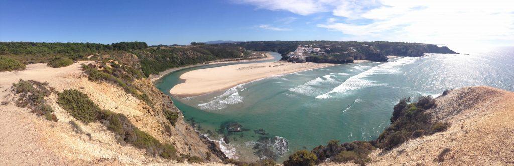 Panorama Praia Odeceixe an der Rota Vicentina