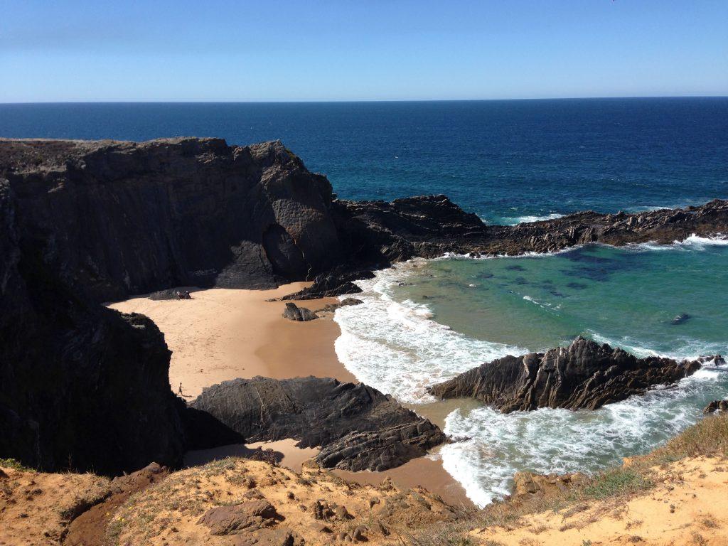 Praia de Cavaleiro an der Rota Vicentina