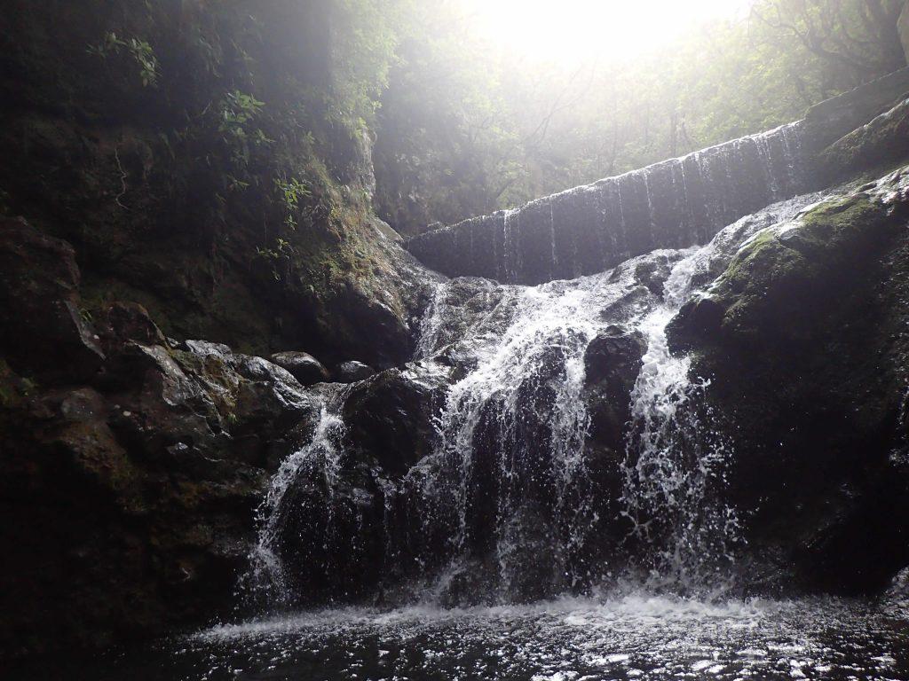 Wasserfall auf Madeira Canyoning