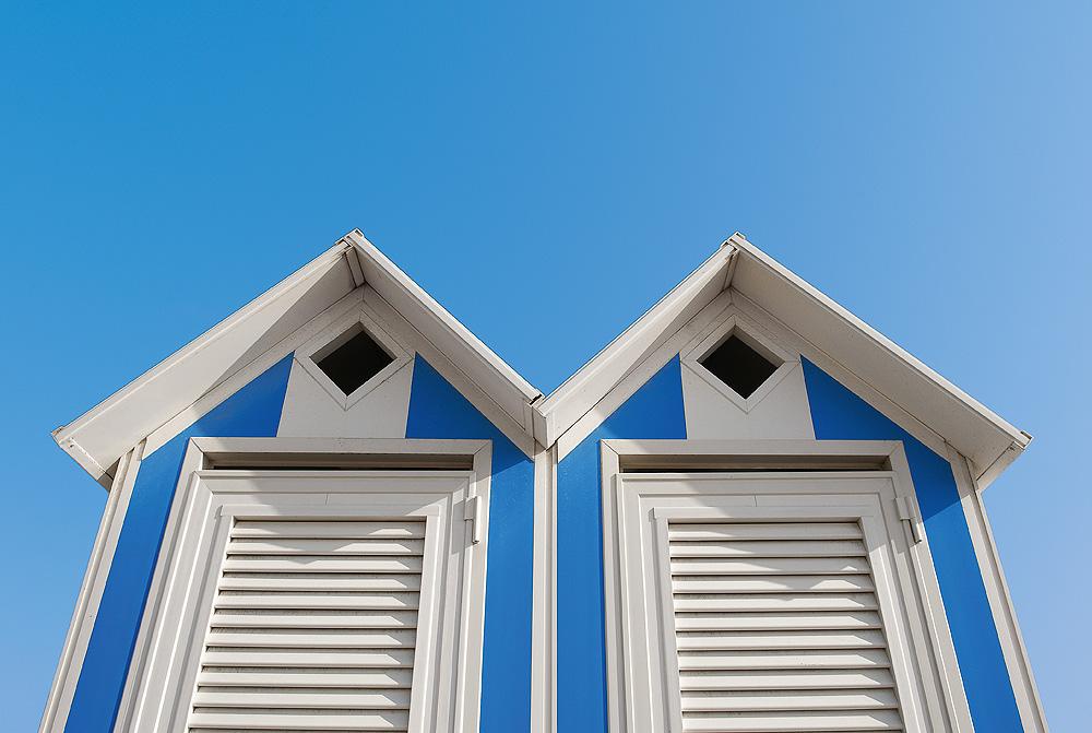 Kabinen am Adria-Strand von Bibione