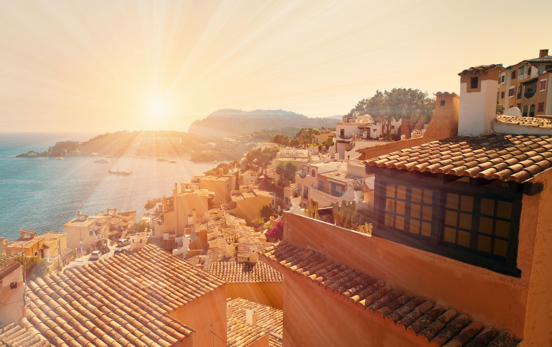 Spanien Urlaub Sonnenschein Gegenlicht