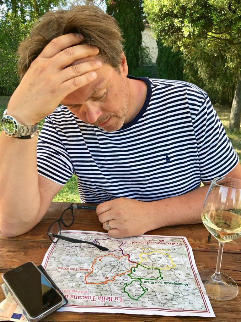Tourenplanung Vespatour mit Karte