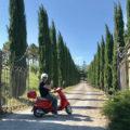 Mit der Vespa in der Toskana
