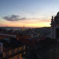 Ausblick auf Lissabon im Sonnenuntergang