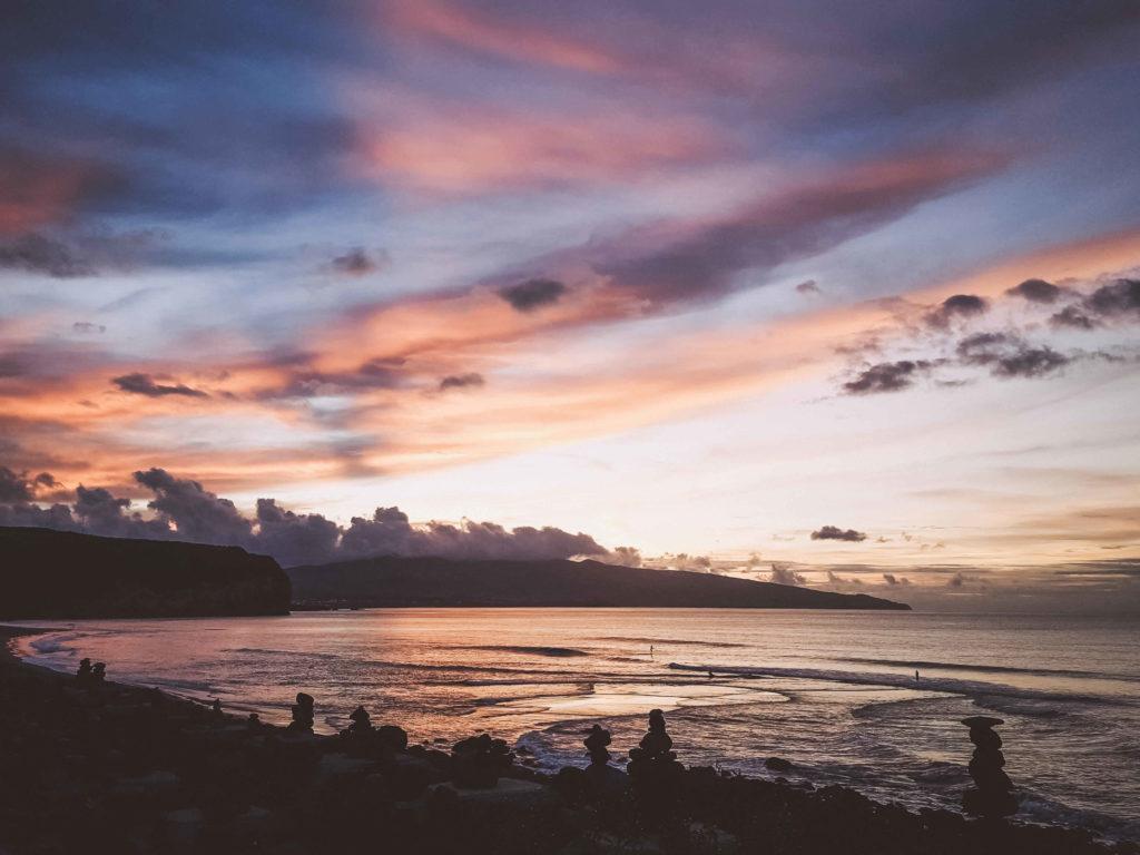 Sonnenuntergang Praia de Santa Bárbara