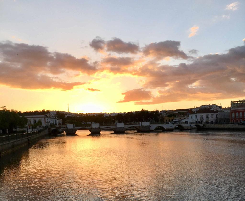 Sonnenuntergang Tavira Algarve